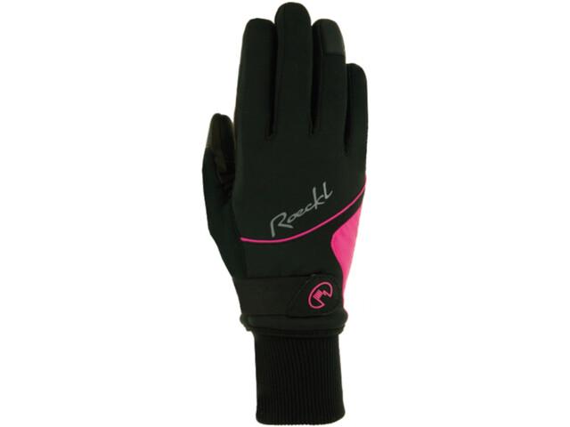 Roeckl Wallis Fahrradhandschuhe Damen black/pink